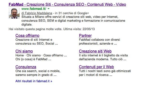 Fabmad Come Ottenere I Sitelink Su Google