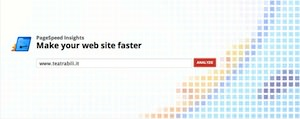 PageSpeed Insights Homepage