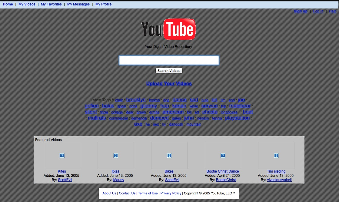 YouTube nel 2005